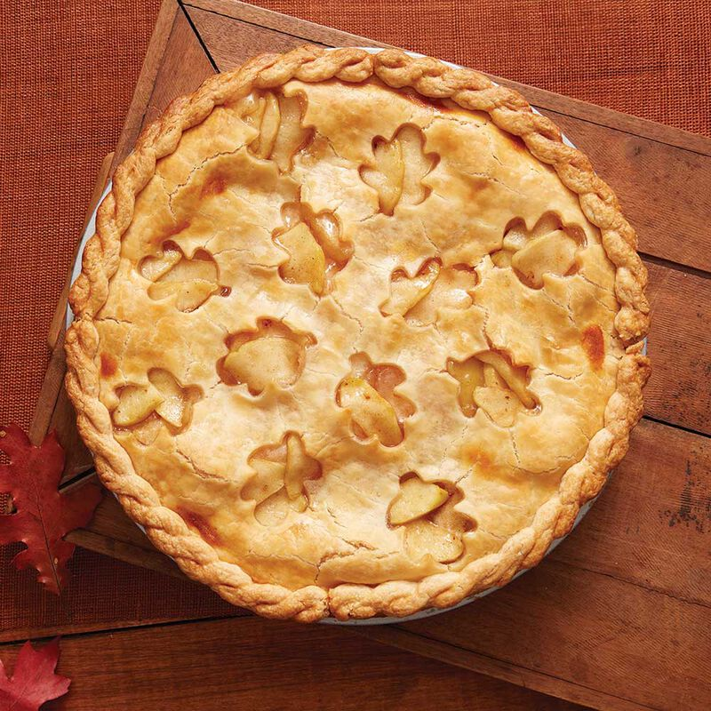 Apple Pie with Cut Out Leaf Crust  image number 0