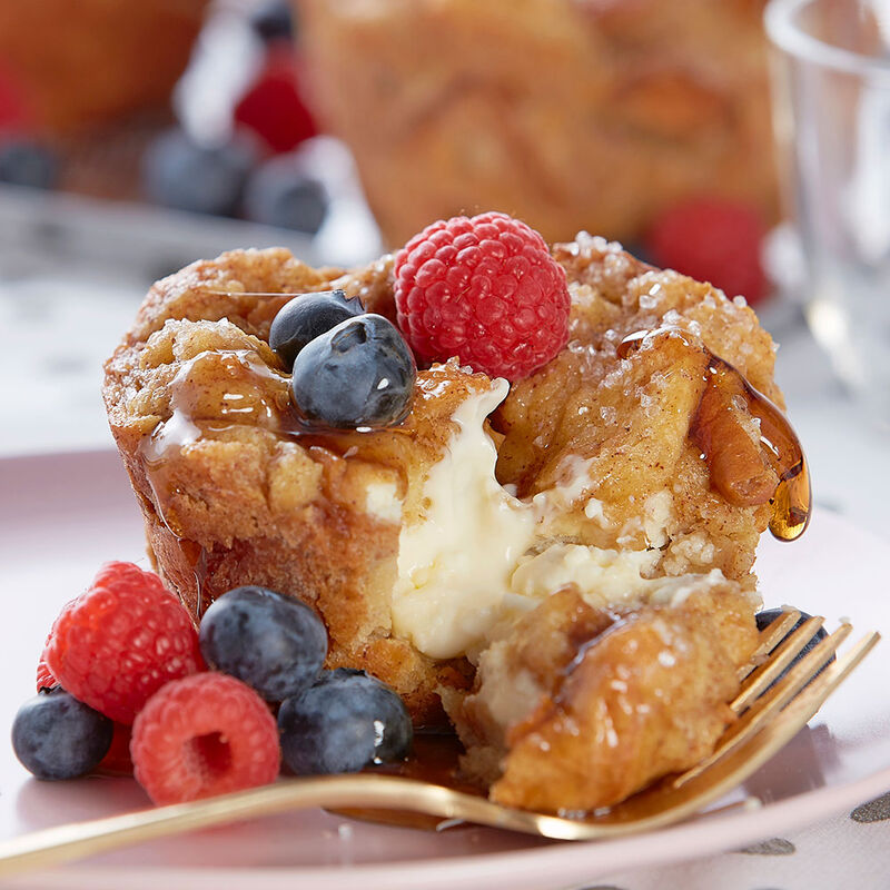 Jumbo Cheesecake-Stuffed French Toast Muffins image number 1
