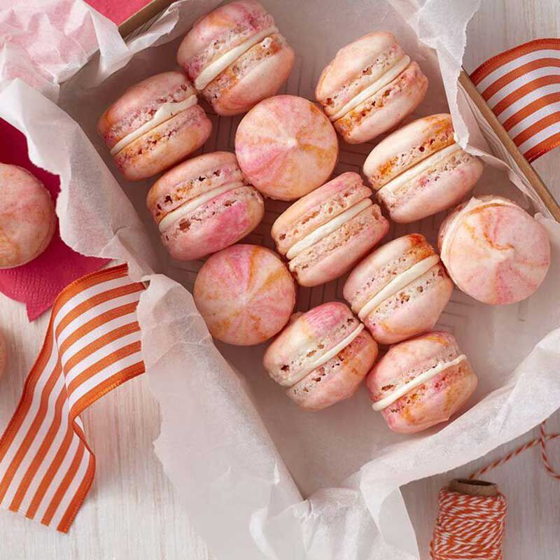 Marbled Pink French Macarons