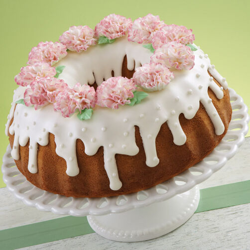 Fanciful Carnation Cake