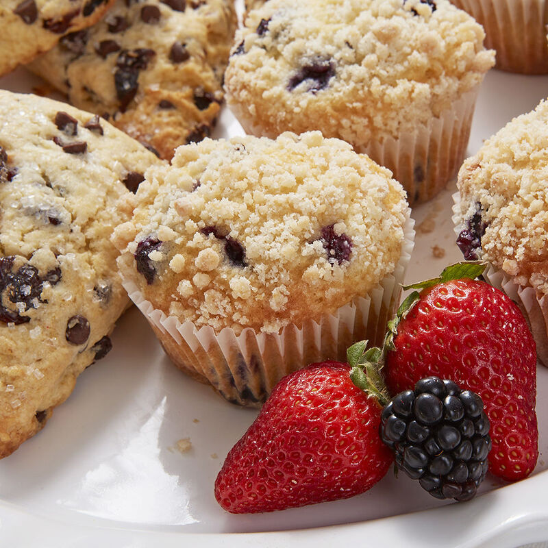 Blueberry Streusel Muffins Recipe image number 1