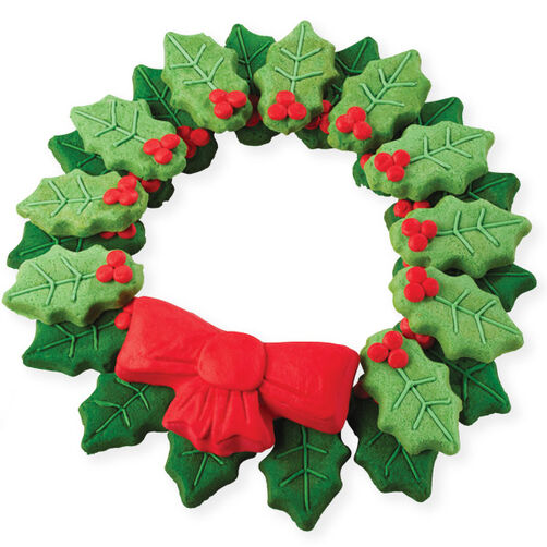 Holly Wreath Cookies For The Holidays
