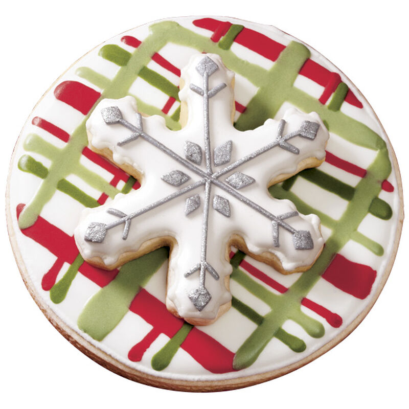 Green & Red Holiday Plaid Cookie image number 0