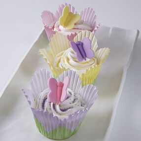 Fluttering on Flowers Cupcakes