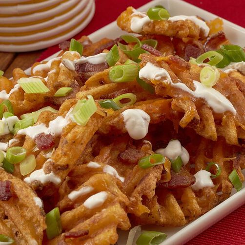 Loaded Waffle Fries Recipe