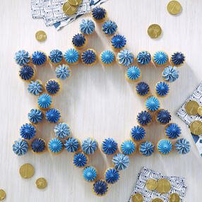 Star of David Mini Cupcakes