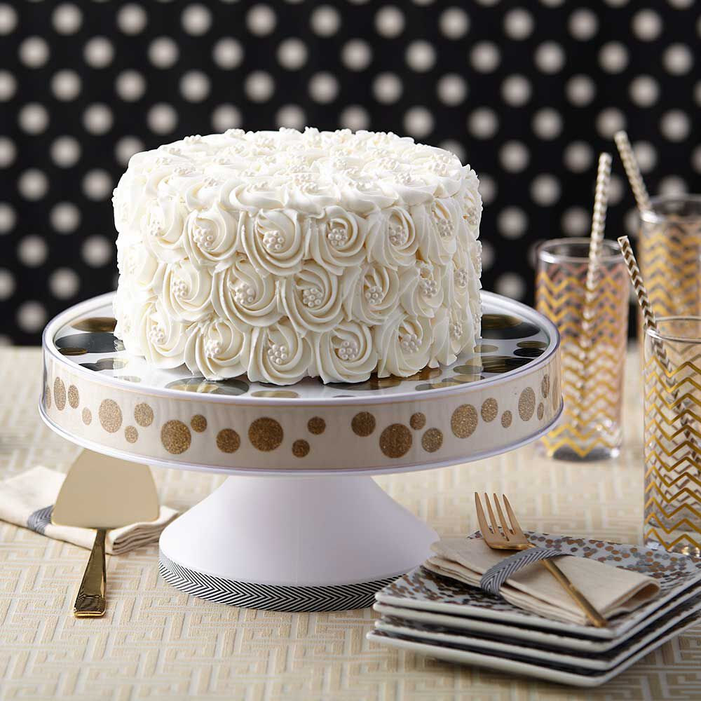Pure White Rosette Wedding Cake Wilton