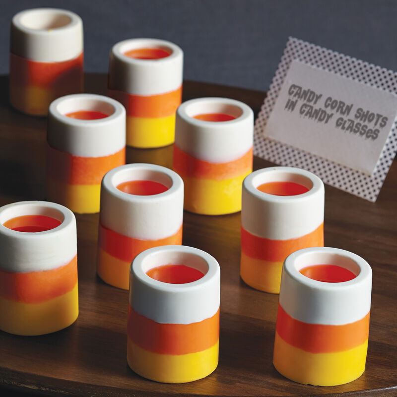 Halloween Party Ideas - Candy Corn Shot Glasses image number 0