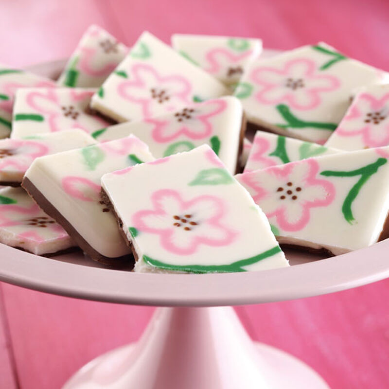 Cherry Blossom Pattern Candy Bark image number 0