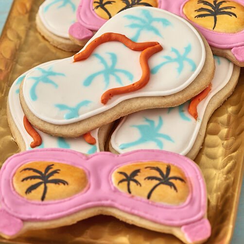 Sunglasses and Sandals Decorated Sugar Cookies