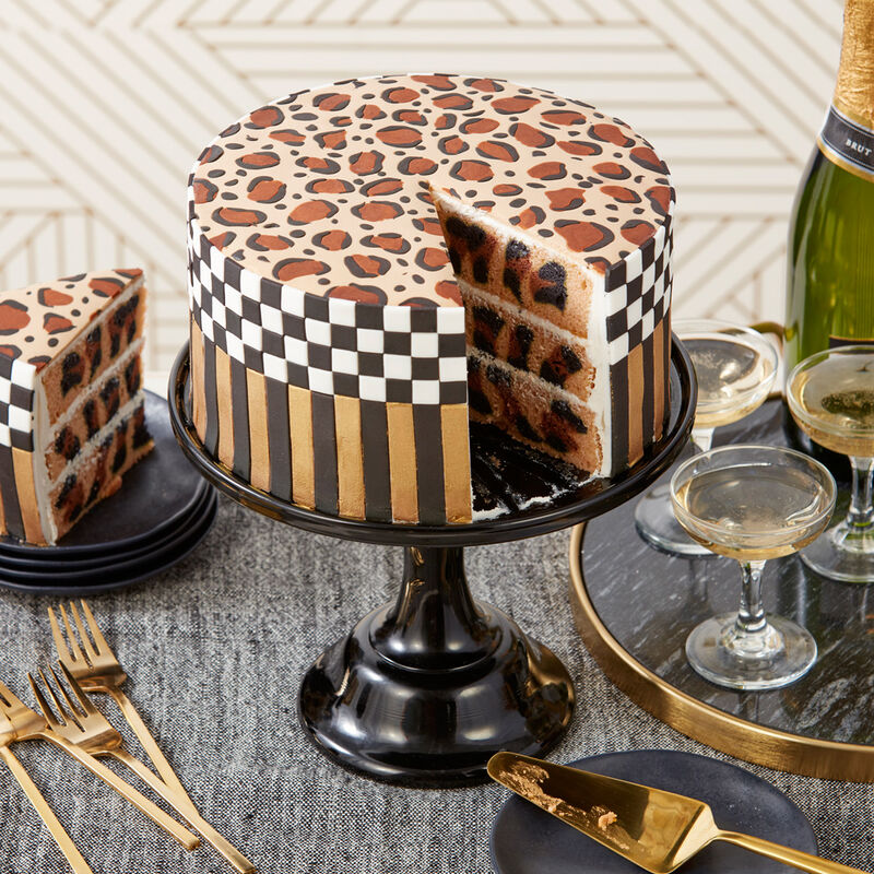Wild About You Leopard Print Cake image number 1