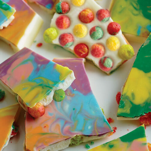 Tie Dyed Candy Bark