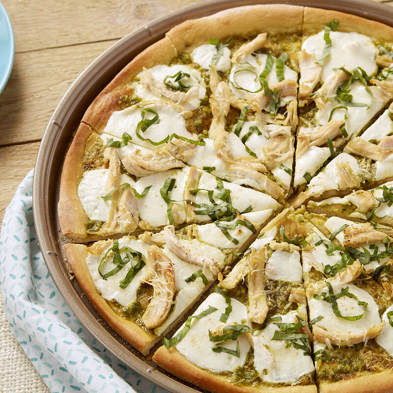 Chicken and Pesto Pizza Recipe image number 0