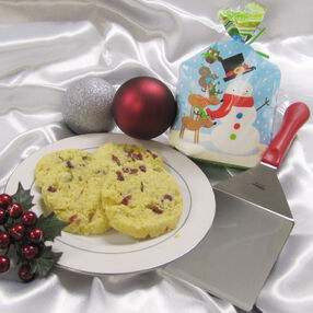 Cornmeal Christmas Cookies in a Treat Bag