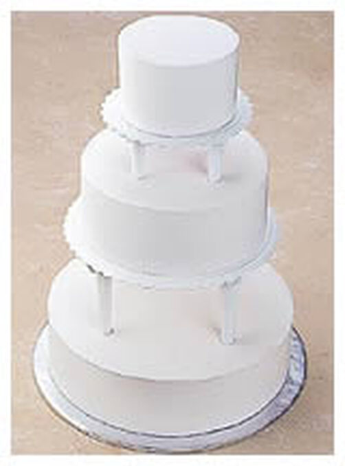 wedding cake plates and pillars push in tiered cake construction wilton 23505