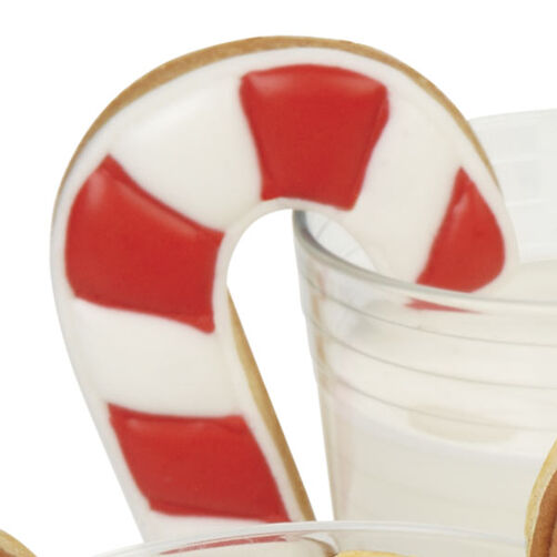 Striped Candy Cane Cookies