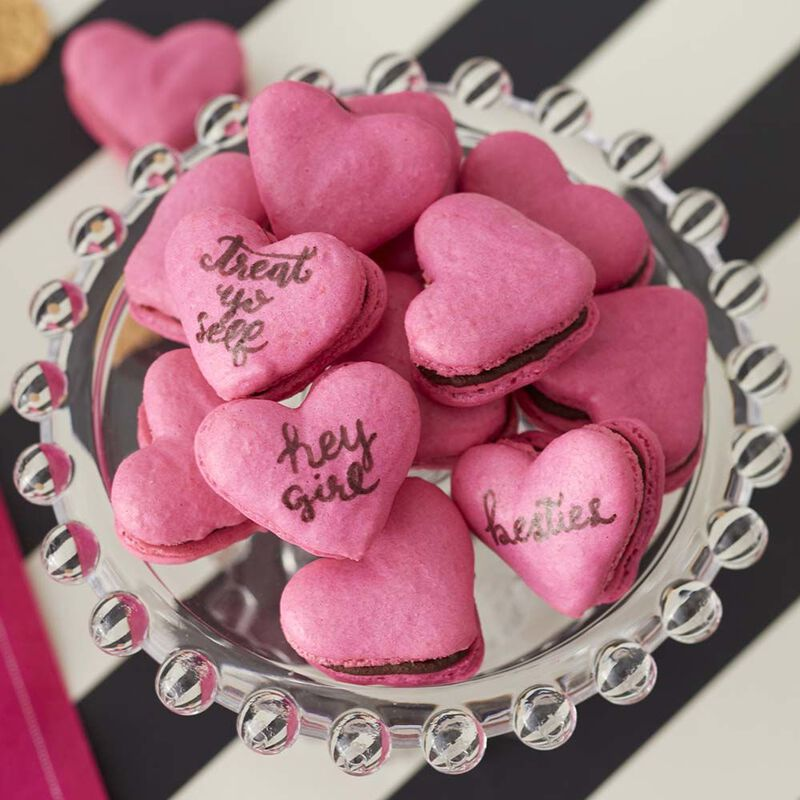 Heart French Macaron Cookies Recipe image number 0