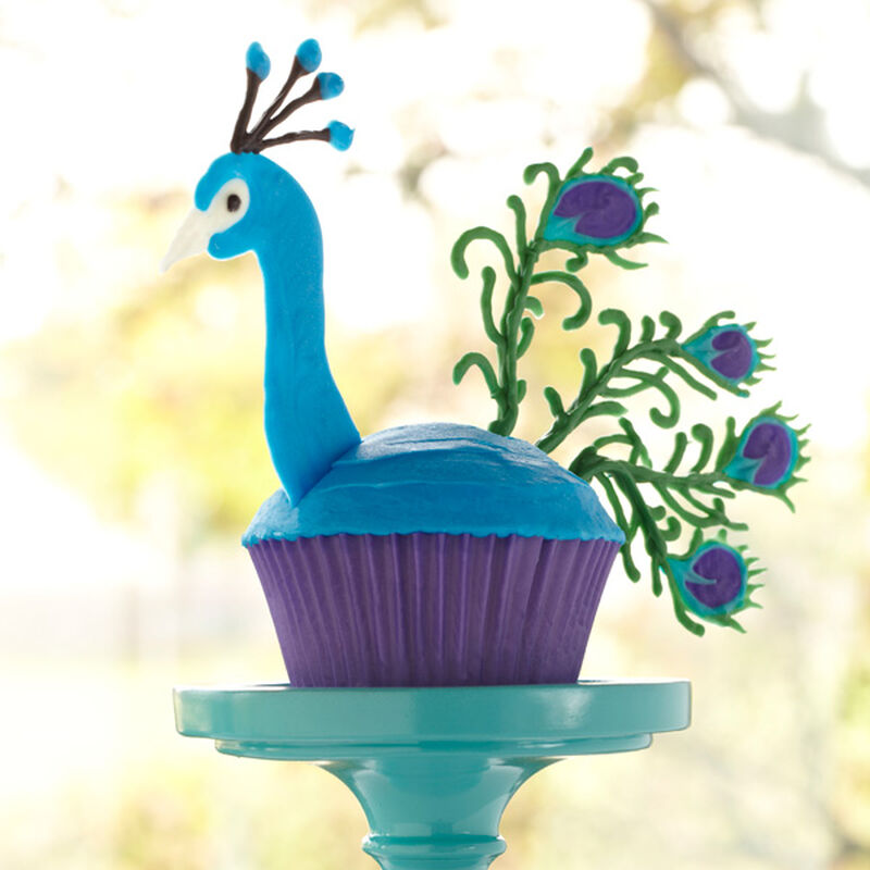 Candy Peacock Cupcake image number 0