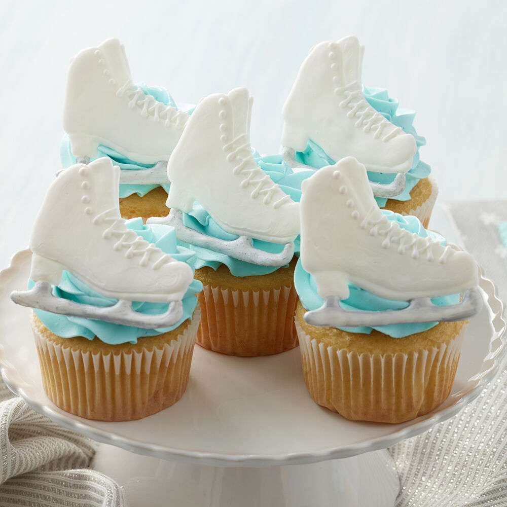 Enticed To Ice Skate Cupcakes Wilton