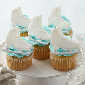 Enticed to Ice Skate Cupcakes