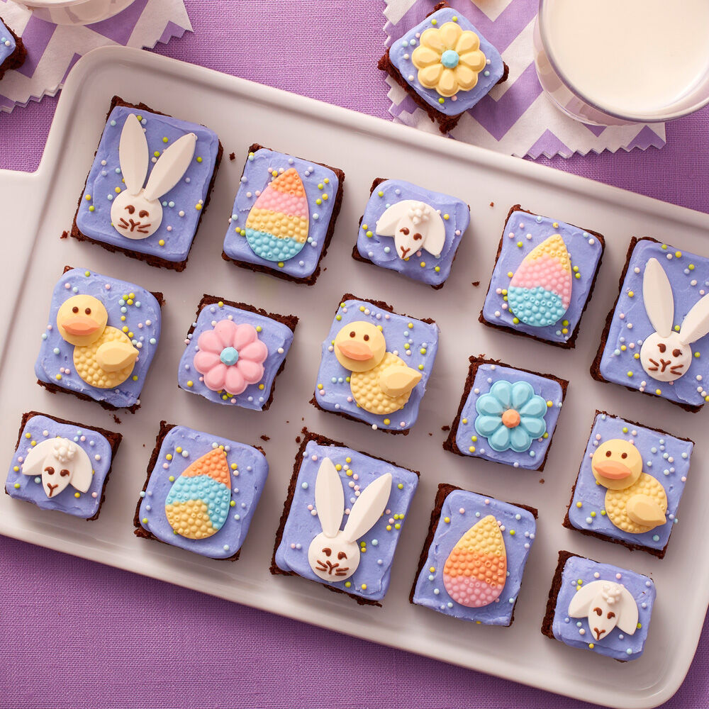 Easter brownies easter dessert ideas wilton - Jewel cake decorations ...