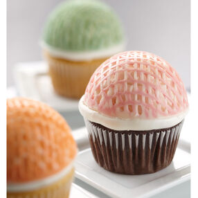 Lattice Candy Shell Cupcakes