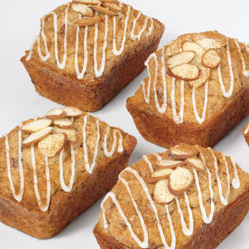 Pear Almond Mini Loaves