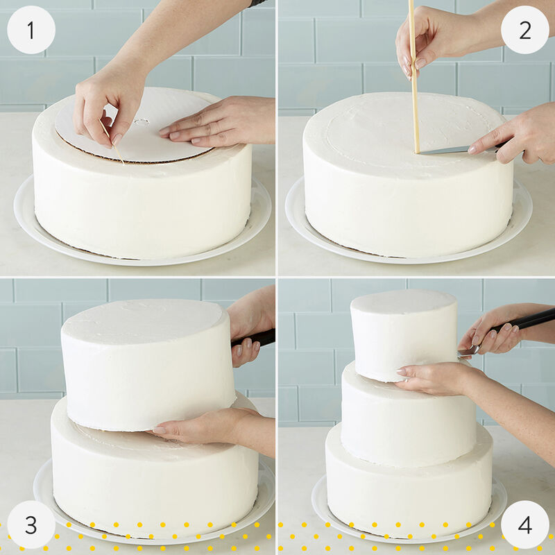 Prime Stacked Tiered Cake Construction Wilton Funny Birthday Cards Online Inifofree Goldxyz