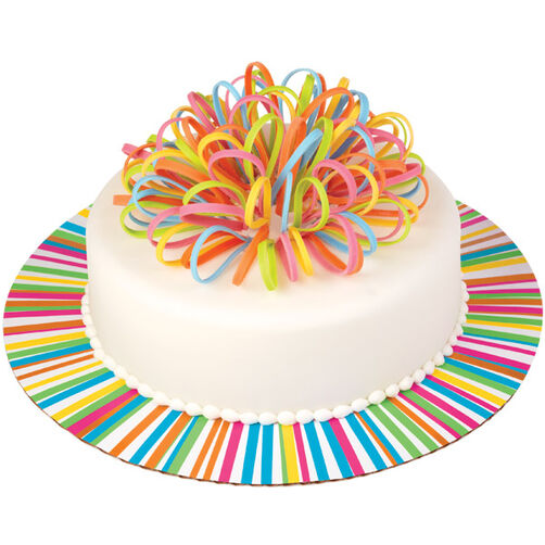 Ribbon Colorburst Cake