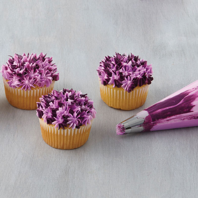 Purple Decorated Cupcakes