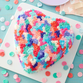 Shaggy Heart Valentine's Day Cake