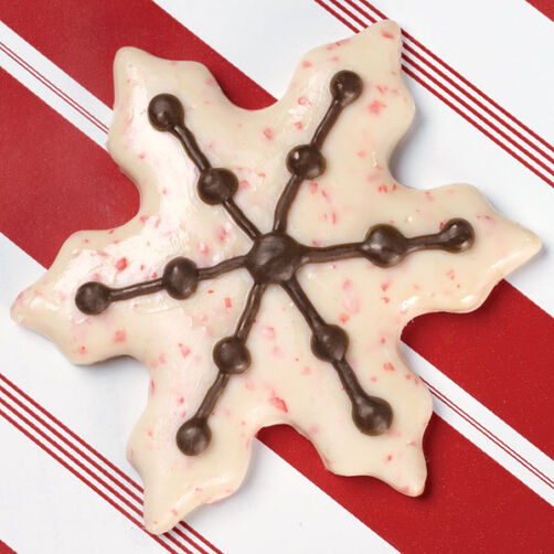 Peppermint Snowflake Candy-Coated Cookie
