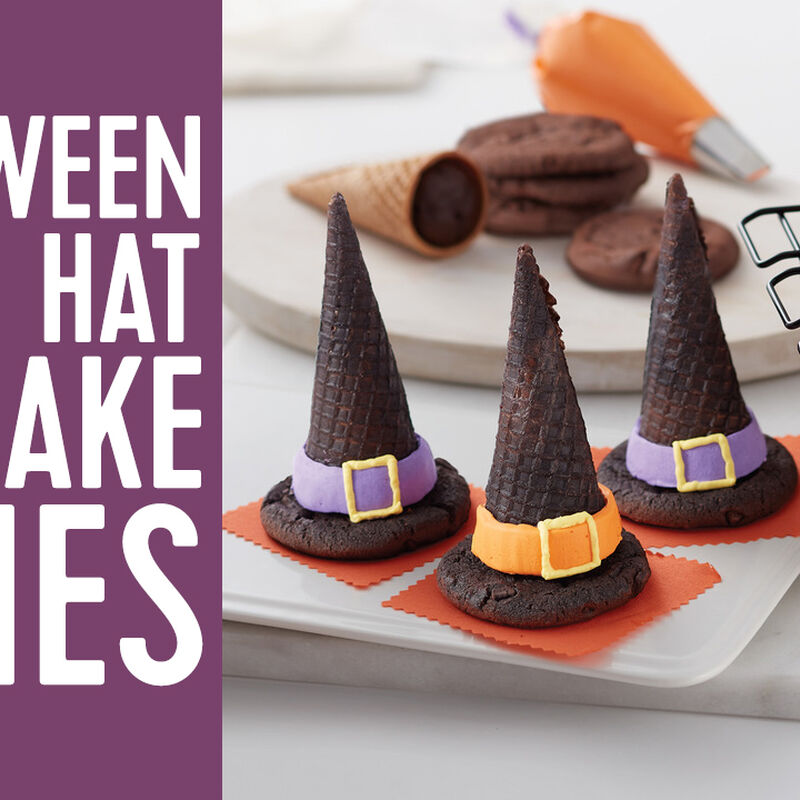 Wicked Halloween Witch Hat Cookie Cones