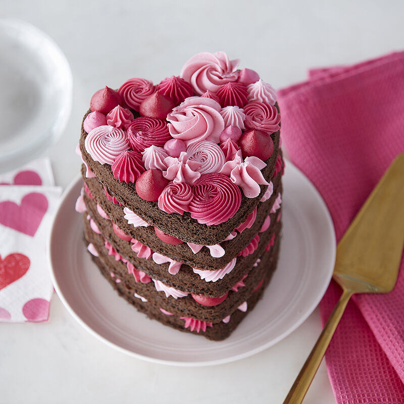 Layered Heart Cake image number 0