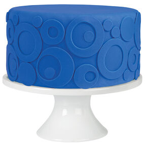 Stacked Circles Fondant Cake