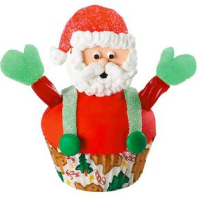 Santa, Man of the Hour! Cupcake