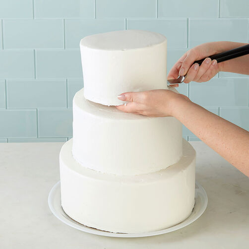 stacked tiered cake construction wilton