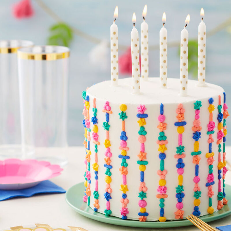 Textured Piped Birthday Cake