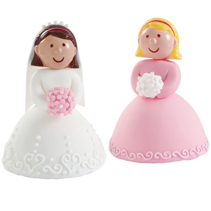 Bride and Her Bridesmaid Mini Cakes image number 0