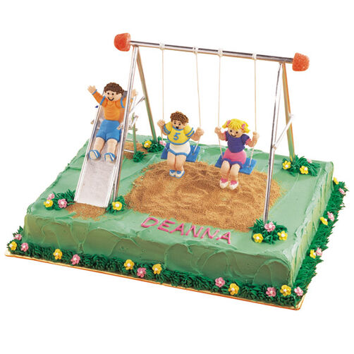 The Swing Set Cake