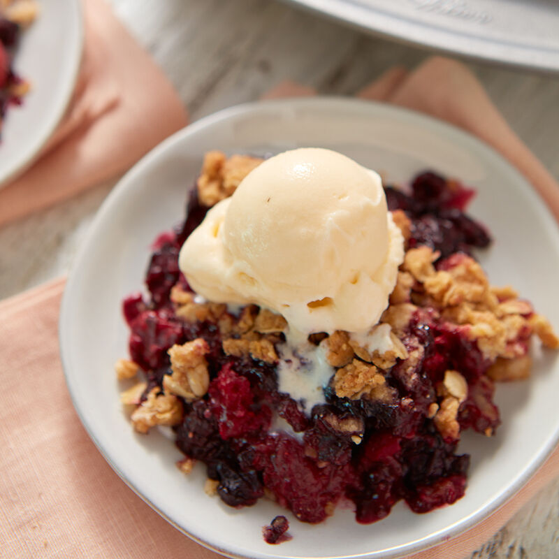 Mixed Berry Crisp Recipe image number 0
