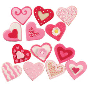 Variety of Valentine's Day Cookies