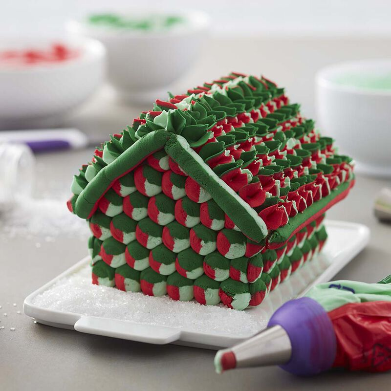Christmas Color Swirl Gingerbread House image number 0
