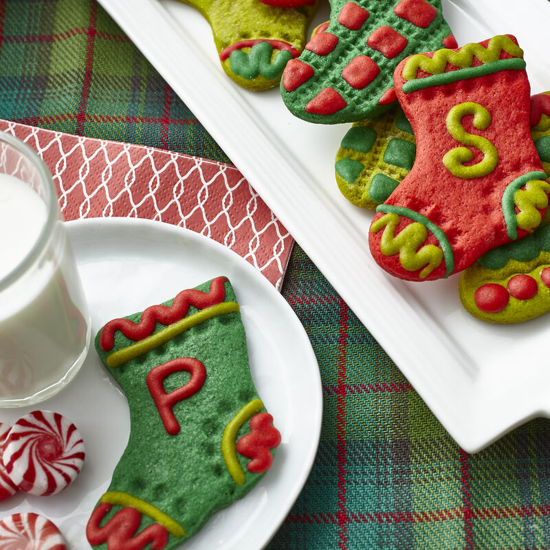 Stocking Christmas Cookies in Festive Colors image number 0