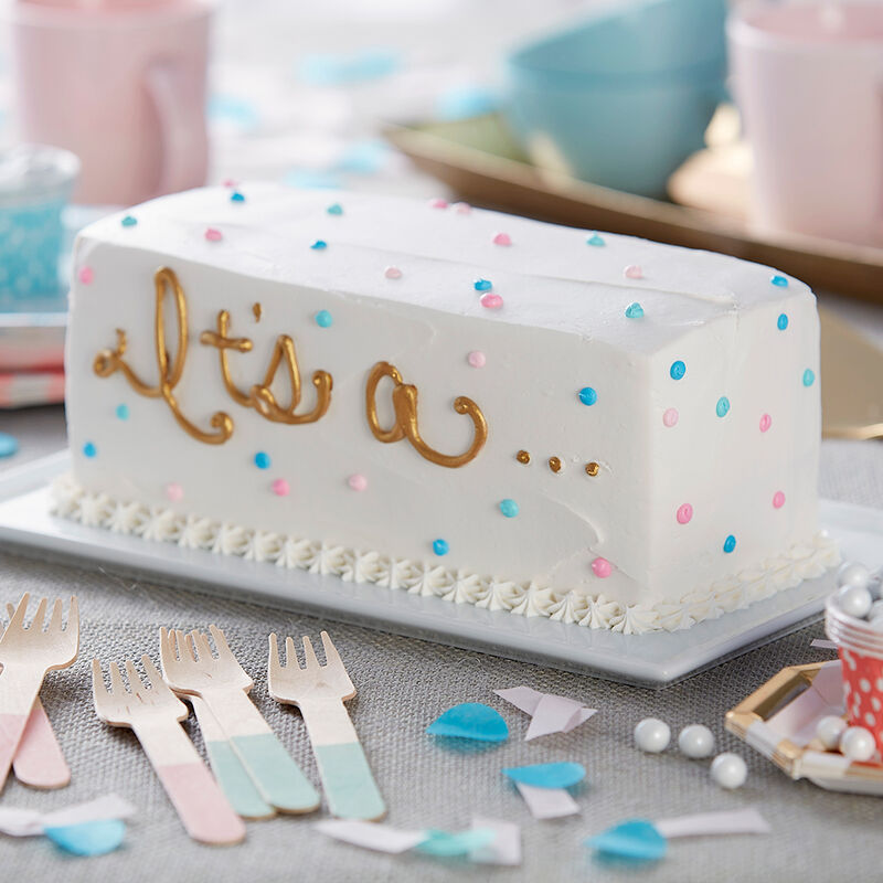 It?s a?Gender Reveal Cake image number 1