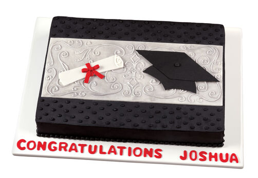 Signs of Success Graduation Cake