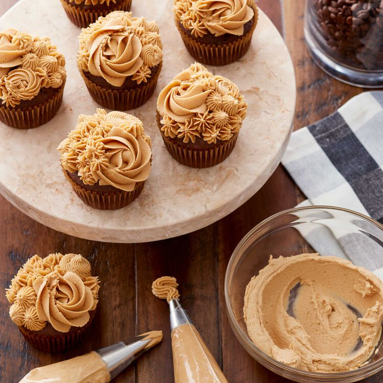 Chocolate Cupcakes with Cappuccino Buttercream