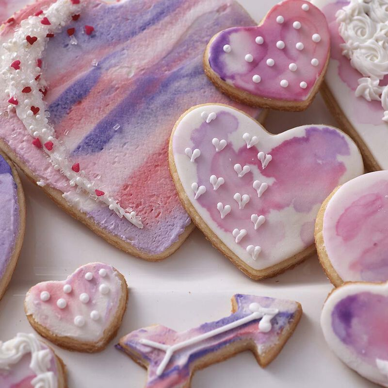 Hearts Abound Watercolor Cookies image number 3