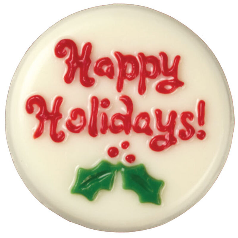 Holly for the Holidays Candy-Coated Cookies image number 0