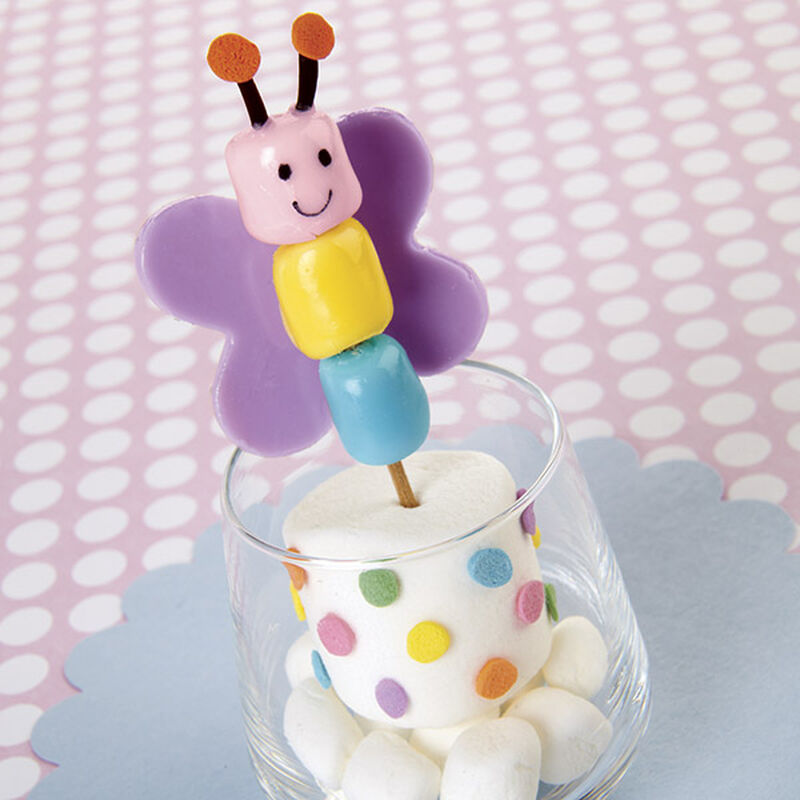 Candy-Dipped Butterfly Marshmallow Treats image number 0